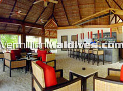 The bar of hotel Mirihi. Maldives Beach Holiday resort