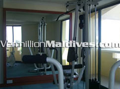 Gym and Fitness Room at Hotel Mookai Maldives