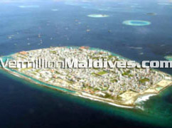 Maldives capital island Male', aerial image picture