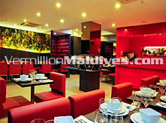 Restaurant of Mookai Suites - Classy and Stylish Hotel in Male