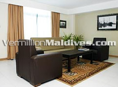 Sitting area of Mookai Suites - All new Hotel in Male' the capital of Maldives