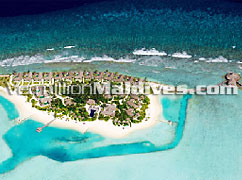 Aerial picture image of Naladhu Maldives Beach resort hotel