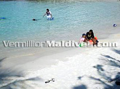 The beach & lagoon of Male' –Your beach in the Capital of Maldives