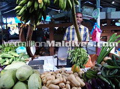 The local market of Male', the capital Isalnd of Maldives