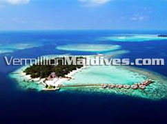 Aerial Picture of Nika Island Resort Hotel Maldives