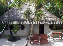 Beach Villa accommodations at Maldives Resort Nika, Italian design