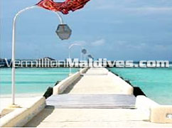 Jetty of Nika Island Resort Maldives in North Ari / Alifu atoll