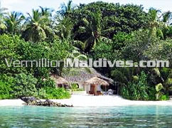 Private Beach in front of accommodation villa at Nika hotel Maldives