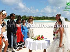 Wedding vows & symbolic marriage at Nika Island Resort Hotel Maldives