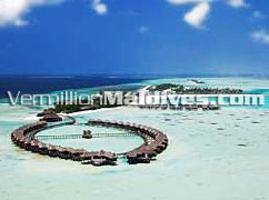 Aerial Picture of Olhuveli Beach and Spa Island Resort Hotel Maldives