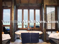 Bathroom of Water Villas at Maldives Hotel Olhuveli Island