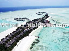 Beautiful 5 star hotel Maldives Olhuveli Island's Aerial Image