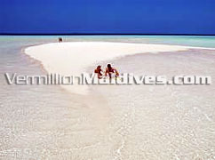 Lovely & sexy Maldives sandbank. Private place for lovers