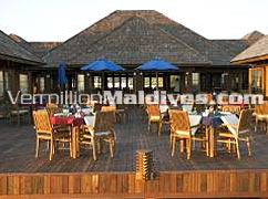 Main Restaurant & Deck of Maldives Olhuveli Beach and Spa Resort Hotel
