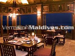Restaurant of the luxury Maldive vacation place Olhuveli Maldives