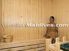 Sauna and Steam room of Olhuveli Maldives. Book your seat now
