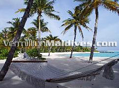 Hammock & relax under the shade in the tropical Maldives Reethi Rah