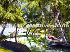 Main Pool with nature. Environment friendly resort island
