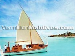 One & Only Maldives Reethi Rah Resort hotel lagoon & the boat