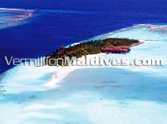 Aerial picture of Ranveli Village & Spa Island Resort Hotel Maldives