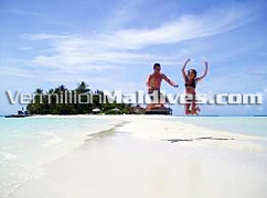 Jump, dance & enjoy in the exotic Maldives beaches