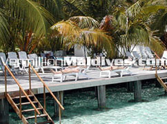 Relax on the deck at Ranveli Hotels Maldives – Sun and Sea of the Maldives