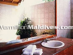Bathroom of Water Villas at Reethi Beach island Maldives