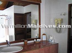 Bathroom of Deluxe Villa at Hotel Reethi Beach Island Maldives
