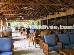 Main Bar of the island Reethi Beach –fun and entertainment resort hotel