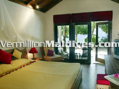 Reethi Villas rooms at Reethi Beach hotel. Nice resort in the Maldives