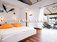Deluxe Bungalow at the hideaway Rihiveli Island Maldives