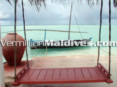 Make a wish here on the Rihiveli swing facing the nature