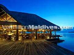 Restaurant at Rihiveli resort- Hotel of Maldives for Special occasions