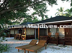Beach Villas of the Luxury Maldives Holiday hotel Royal Island