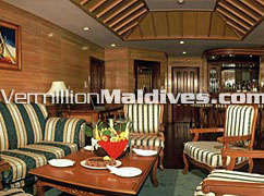 Sitting area of the Presidential suite. Book Maldive Royal for your Honeymoon