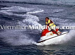 Try jet skiing and Lot more Water Sports in Baa Atoll Royal Island Resort