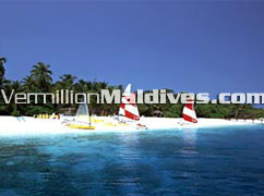 White Sandy beach and the house reef with water sports & such activities