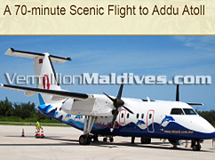 Local plan transfers clients to Addu Atoll, Shangrila Hotel Villingili