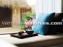 Stylish & cozy amenities at Maldives hotel ShangriLa