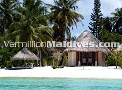 Beachfront Cottages of Starwood Hotel Sheraton Maldives