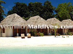 Sheraton Fullmoon Maldives beautiful beach  front cottage rooms