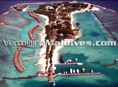 Sheraton Maldives Full Moon Resort & Spa Hote. Aerial picture image