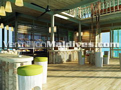 Chill out in Ice Cream Parlor at the beautiful Hotels Maldives Six Senses Latitude Laamu