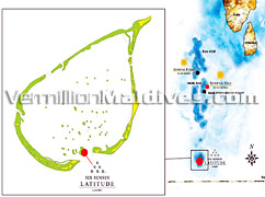 Location Map of the Ultra Luxury Maldives Resort Six Senses Latitude Laamu