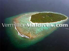 Aerial View of 5 Star Luxury Resort Maldives Soneva fushi by Six Senses