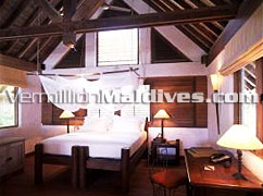 Bedroom of Crusoe Villa with Two Bedrooms - Soneva Fushi Resort – Maldives Luxury Resort