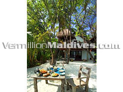 Crusoe Dining in Crusoe Villa of Soneva Fushi by Sixsenses - Maldives Resort