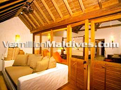 Living Room & Bedroom - Soneva Fushi Villa - Maldives Resorts at its best