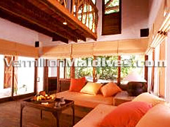 Living Room of Crusoe Suite - One Bedroom - Soneva Fushi Maldives