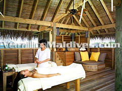 Treatment Room of the Spa Suite in Soneva Gilli Maldives Hotel